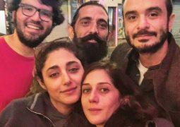 عکس یادگاری گلشیفته فراهانی و خواننده خارجنشین پس از کنسرت پاریس