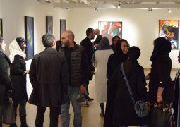 """گزارش تصویری از افتتاحیه نمایشگاه نقاشی """"رها شرفی عالی"""" در شرق تهران"""