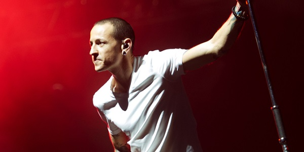 Mandatory Credit: Photo by Justin Ng/Music Pics/REX/Shutterstock (4267357a) Chester Bennington Linkin Park in concert at The O2 Arena, London, Britain - 23 Nov 2014
