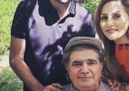 عکس جدید محمدرضا شجریان با همسر و فرزندش در باغ شخصی + تصویر