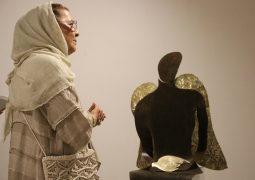 گزارش تصویری از افتتاح نمایشگاه آثار حجم ژیلا مبصر