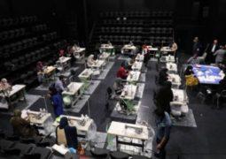 راه اندازی کارگاه خیریه تولید ماسک در تالار حافظ